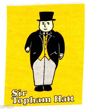 """7"""" THOMAS THE TRAIN TANK  SIR TOPHAM HAT CHARACTER  FABRIC APPLIQUE IRON ON"""