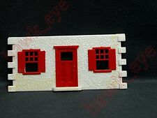 Plasticville Cape Cod House White with Red Front Piece O-S  Scale HTF