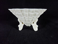 Belleek Irish Limpet Shell Salt Cellar Nut Dish Green Mark