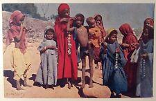 CURIOSITY cartolina animata Egypt children مصر الأطفال bambini costume Egitto