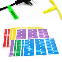 300x 5-Farbe Klebe Etiketten Kabel Markierungen Wasserdicht Selbstklebend Farbig