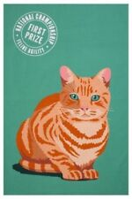 Ulster Weavers Marmalade Ginger Cat Kitty Orange Tabby Green Kitchen Tea Towel