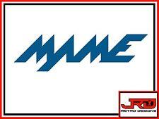 Nome adesivo del Logo in Blu