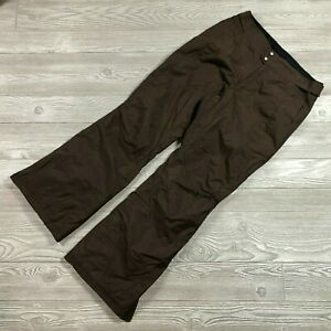 Columbia Brown Insulated Lined Ski Snowboard Pants Women's S EE60