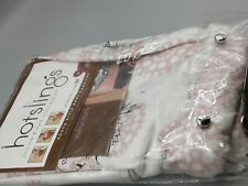 Hotslings Baby Carrier Pouch Style Size 3 Small Pink or Rose Brown Pattern w Dvd