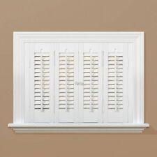 "Interior Faux White Wood Shutters Shutter Window 23"", 24"", 25"" X 20"" L"