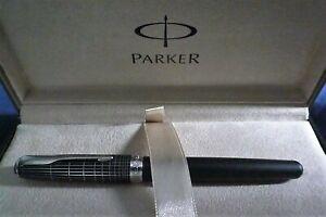Parker Sonnet Executive Black Cisele Rollerball Pen - 2015 Model