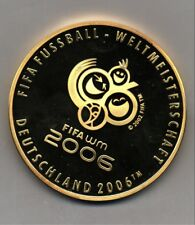 Official World Cup Soccer Gold 2006 Gilt Silver Coin Medal Of Germany 🇩🇪