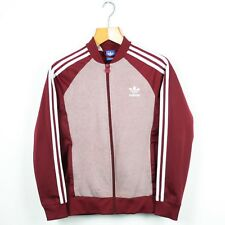 Vintage Women's ADIDAS ORIGINALS Burgundy Red Tracksuit Top Jacket | Size 10
