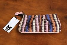 MISSONI Authentic Women's Small Purse Free Shipping New with tag Leather Cotton