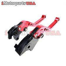 HONDA RC51 RVT1000R SHORTY BRAKE CLUTCH LEVERS ANODIZED RED BILLET ALUMINUM NEW