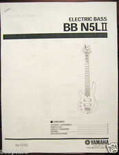 Yamaha BBN5L II Left Handed Bass Guitar Service Manual and Parts List Notes