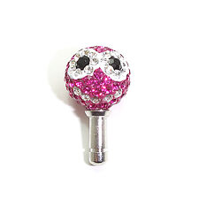 Pink Smile Swarovski Cellphone Earphone Jack Plug