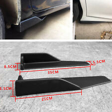 Paar schwarz ABS SUV Auto Side Rock Rocker Splitter Winglet Flügel Kratzfest