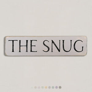 THE SNUG Vintage Style Wooden Sign. Shabby Chic Retro Home Gift. S2