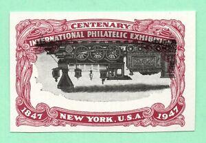 Inverted Vignette Error from 1947 OldUS Stamp Imperf NoGum UpsideDown Locomotive