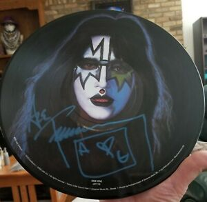KISS ACE FREHLEY  signed Russian  reissue solo picture disc vinyl  lp