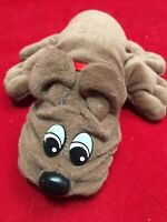 "Vintage 1980's Small Pound Puppy Puppies 8"" Brown Dog Plush Stuffed Animal"