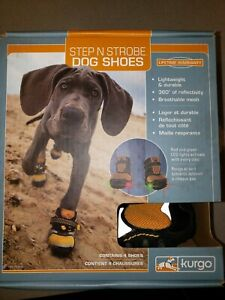 NEW Kurgo Step N Strobe LED Dog Shoes - Size: Large Lifetime Warranty