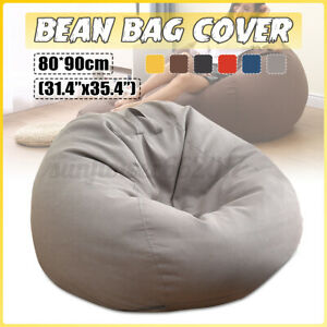 Large Bean Bag Cover Chair Cushion Pillow Lazy Sofa Lounger Couch Seat Indoo