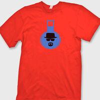 Breaking Bad Blue Crystal Beaker T-Shirt Walter White Heisenberg Tee