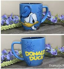 Disney Angry Donald Duck Sailor Coffee Mug 2 Tone Blue 12 Oz ~ EUC
