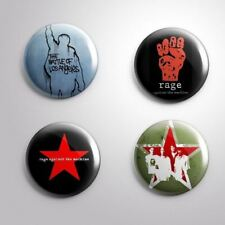 4 Rage Against The Machine - Pinbacks Badge Button Pin 25mm 1''