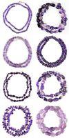 Natural Single Strand Purple Amethyst Mixed Shape Beads Handmade Necklace