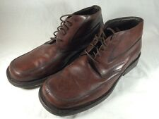 Bacco Bucci Men's Brown Leather Casual Chukka Ankle Boot Made In Italy Sz 11.5D