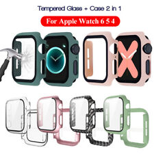 44mm Tempered Glass Screen Protector Full Cover For Apple Watch Series 6 5 4