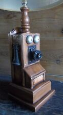 VINTAGE WALL TELEPHONE Chalkware Table Lamp  Antique WALL PHONE Desk Lamp