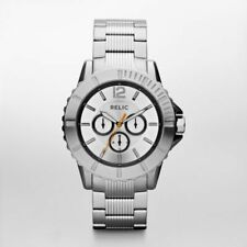 NIB RELIC by FOSSIL Gresham Multifunction Stainless Steel Men's Watch ZR15702
