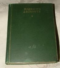 RARE 1890 American Sonnets 1st T W Higginson & E H Bigelow