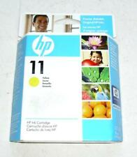 HP 11 YELLOW PRINTER INK CARTRIDGE BRAND NEW IN PACKAGE C4838A FREE SHIPPING