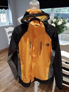 The North Face Summit Series Mens GoreTex Jacket Size Medium Yellow Black Grey
