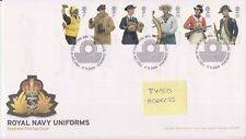 TALLENTS GB ROYAL MAIL FDC FIRST DAY COVER 2009 ROYAL NAVY UNIFORMS STAMP SET