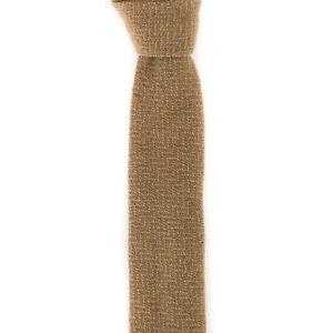 $175 NWT BOGLIOLI Sandstone Beige 100% Knit Wool Neck Tie Made in Italy