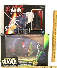 Star Wars Hasbro POTF Jabba's The Hutt's Dancers + Sith Speeder Darth Maul  NIB