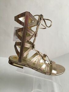New Cover Girl Courtney Gold Gladiator Sandals 8M