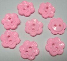 """1/2"""" Plastic Flower Buttons x 70 Pink-Girl/Dress/Trim"""
