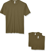 Marky G Apparel Men's CVC Crew T-Shirt (3 Pack) Military Green XS New Solid