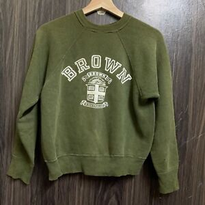 Vintage 60s Champion Running Man Brown University Sweatshirt