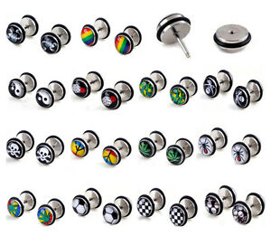 Unisex Stainless Steel Fake Cheater Earring - Various Designs - Brand New