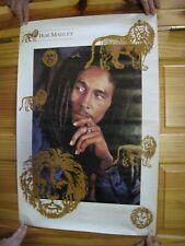 Bob Marley Poster Gold Lion Vintage