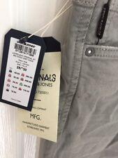 "Jack & Jones Grey Chinos Jeans Moon Mist Buttons 28"" Waist 30"" Leg Small Glenn 3"