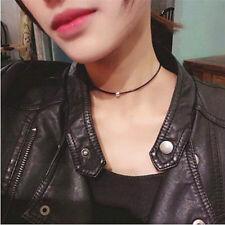 Gothic PU-Leder Kropfband Halsband Choker Collier Halskette mit Kugel Anhänger