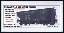 Funaro F&C 8330 B&O BALTIMORE & OHIO Railroad  N12G HOPPER Twin 1-PIECE Body Kit