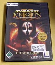 PC juego-Star Wars-Knights of the Old Republic 2: the Sith Lords-nuevo embalaje original