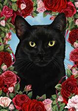 Roses Garden Flag - Black Cat 199511