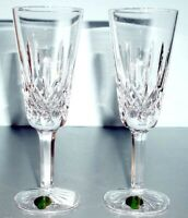 Waterford Lismore 60th Anniversary Pair Champagne Flutes #154040 New In Box